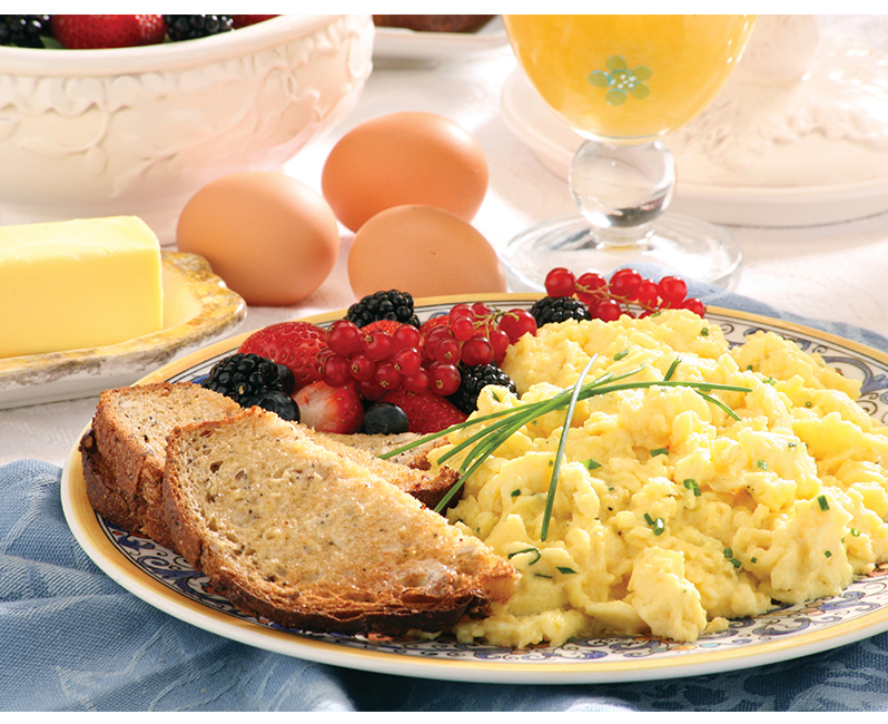 Organic Valley Spreing Creamy slow scrambled eggs
