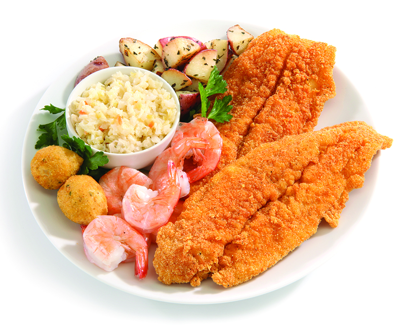 Fish and Shrimp Dinner plate