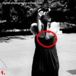 Keep your elbows in to keep your camera as steady as possible.