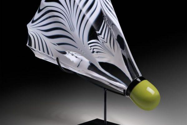 Tyler Kimball's shuttlecock glass art