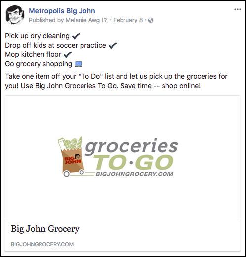 Metropolis Big John Facebook Link