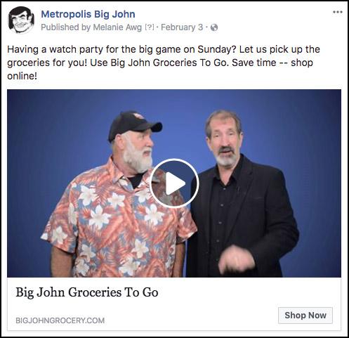 Metropolis Big John Online Shopping Video on Facebook