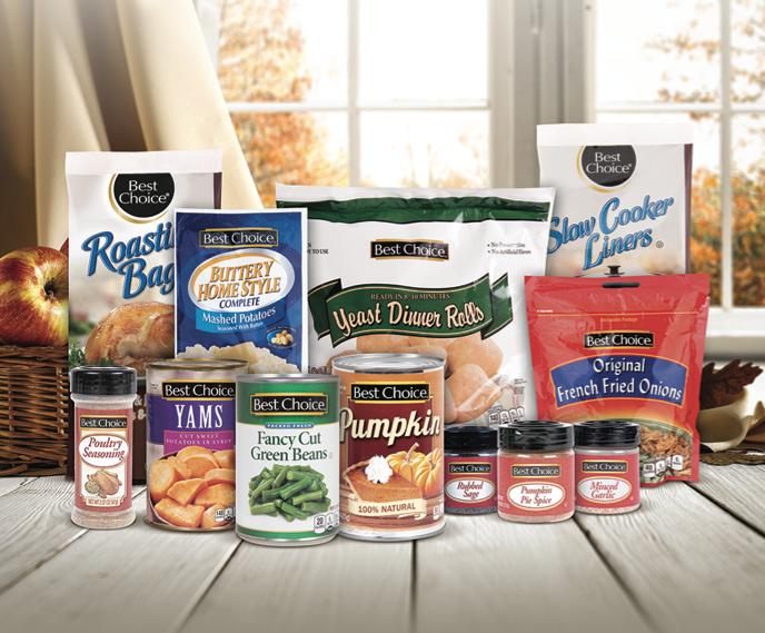 Assortment of Best Choice Thanksgiving products